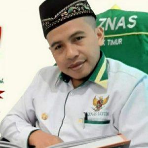 Sekretaris Baznas Lotim Abdul Hayyi Zakaria