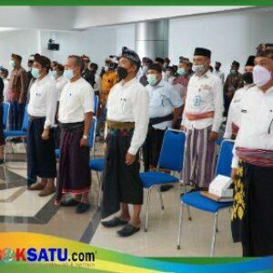 Sekda memberi sambutna dalamRembuk Penurunan Stunting di Lombok Timur