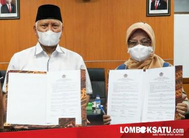 Penandatanganan Fakta Integritas antara Kepala Kantor Wilayah Ditjen Perbendaharaan Provinsi NTB, Kepala KPPN Selong