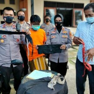Polisi berhasil meringkus MH meski pakai bebadong