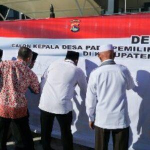 Penandatangan Deklarasi Damai Pilkades serentak