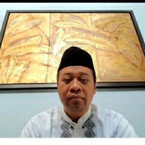 Gubernur NTB H Zulkieflimansya saat menghadiri acara Hultah NWDI ke-86 via zoom meeting