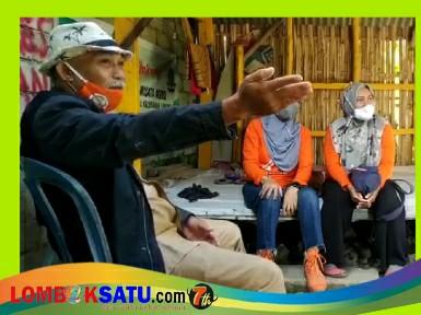 Lurah Leneng, Lalu Isnaini saat menyampaikan potensi wilayahnya kepada Ketua Portir Indonesia