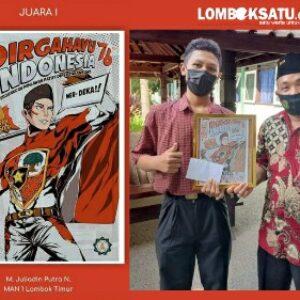 Siswa MAN 1 Lotim Juara 1 Lomba Poster Nasional