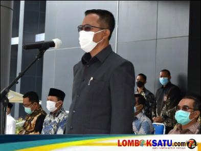 Sekda Lotim HM Juaini Taofik memberi arahan pada acara penutupan Latsar ASN dan jadi terdepan pelayanan