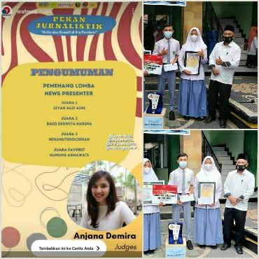 Baiq Deswita Karina Putri sukses meraih juara 2 nasional pada kejuaraan nasional presenter